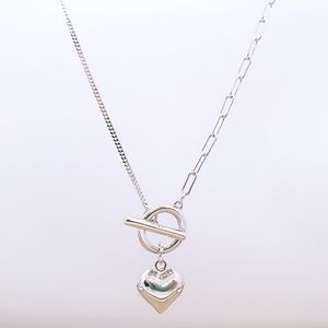 Stamped 925 Silver Heart Necklace